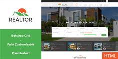 Realtor - 绿色大气房产中介网站 租房售房 HTML模板 手机网站
