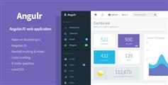 Angulr - Bootstrap Admin Web App with AngularJS 后台模版