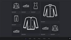 jQuery实现衣服成列_购物车_分类展示_jQuery无规则展示商品列表