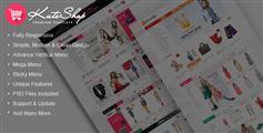 KuteShop - 响应式服装商城HTML5模板多风格 电子商务模板