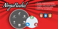 NinjaRadial - 漂亮的弹出圆圈放射式菜单插件