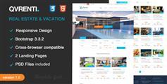 Qvrenti - 响应房地产HTML5模板 PSD模板