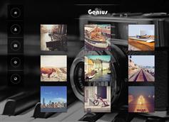 黑色精美个人摄影工作室bootstrap模板