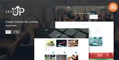 LevelUp - 教育网站培训机构课程介绍网站HTML模板