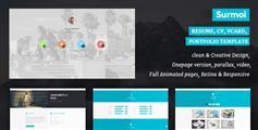 个人网站html5模板多色调很有创意 - Surmoi