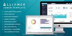 crm后台管理模板响应式适应手机端  - Alliance