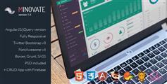 AngularJs和HTML版后台模板Bootstrap管理系统框架 - Minovate