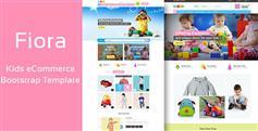 母嬰用品商城Bootstrap模板支持手機端 - Fiora