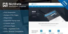 HTML5模板蓝色漂亮的网站购物页面博客网页模板 - Nictitate