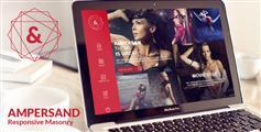 瀑布流布局网站模板_漂亮大气红色风格图片网站 - Ampersand