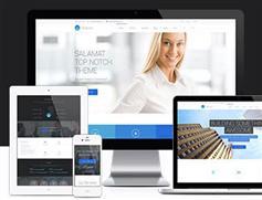 Salamat漂亮大气企业网站html5模板适用手机端