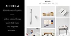 极简风格Bootstrap模板作品商品展示网页 - Acerola
