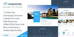 SunHouse - 大气房地产公司html5网站模板