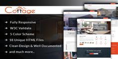 多皮肤房产HTML模板响应式全屏大气房地产网站Bootstrap框架 - Cottage