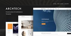 建筑公司HTML企业模板_响应Bootstrap简约大气企业HTML5模板 - Archtech