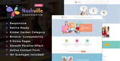 可爱的幼儿园网站HTML模板_响应孩子用品电商HTML5&CSS3模板 - Nashville