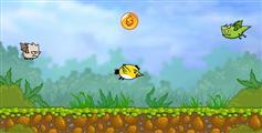 html5小鸟飞行闪躲小游戏js小鸟闪避手机游戏源码 - Birds attacks