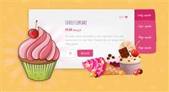 纯CSS3炫酷甜点图片轮换广告代码_不用JS实现的幻灯片插件