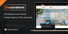 室内设计企业或工作室网站HTML模板_Bootstrap室内设计网页框架 - Decorators