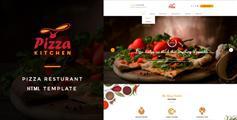 全屏响应设计披萨和快餐HTML5模板 - Pizza Kitchen