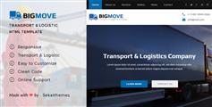 大气黑蓝风格物流货运公司官网HTML模板 - Big Move