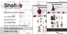 24套主页响应HTML5电商模板80+页面Bootstrap鞋服在线商城UI模板 - Shofixe