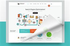 有创意的技术支持&SEO优化服务&网上营销服务网站HTML模板 - SEOsight