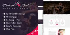 HTML5婚礼网站模板_Bootstrap3.x婚礼策划机构多页面HTML模板 - Wedding Reval