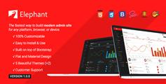 响应式管理系统Bootstrap模板_HTML5后台系统框架HTML模板 - Elephant