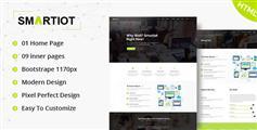 HTML通用企业官方网站模板_响应式Bootstrap公司网站HTML模板 - SmartIOT