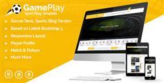 体育网站HTML框架Bootstrap足球运动博客资讯HTML模板 - Gameplay