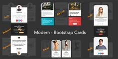 纯Css3时尚图文卡片布局Bootstrap博客列表布局样式产品信息