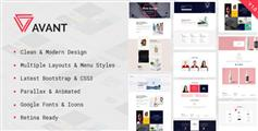 Bootstrap和CSS3创造性视差多用途设计师HTML5模板 - Avant