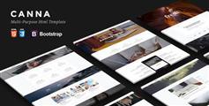 优雅响应式Html5模板Bootstrap创业公司个人作品展示HTML模板 - Canna