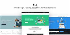 简约大气的网页设计公司,主机服务商,SEO公司官网HTML5响应模板 - Six