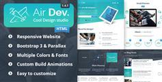 Air Dev单页布局HTML响应网站模板_视差效果HTML5&Css3单页面网站