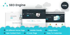 SEO服务网络推广公司官网HTML模板|SEOEngine