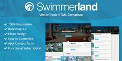 Swimmerland - 响应式游泳馆HTML网站模板_HTML5水上公园模板