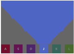 js+css3制作按键弹出钢琴键特效