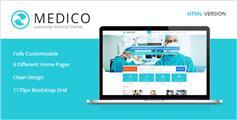 淡蓝色医疗与健康HTML5&CSS3模板_手机端医院网站HTML模板 - Medico