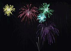 HTML5实现夜空自动放烟花动画效果插件 - jquery.fireworks