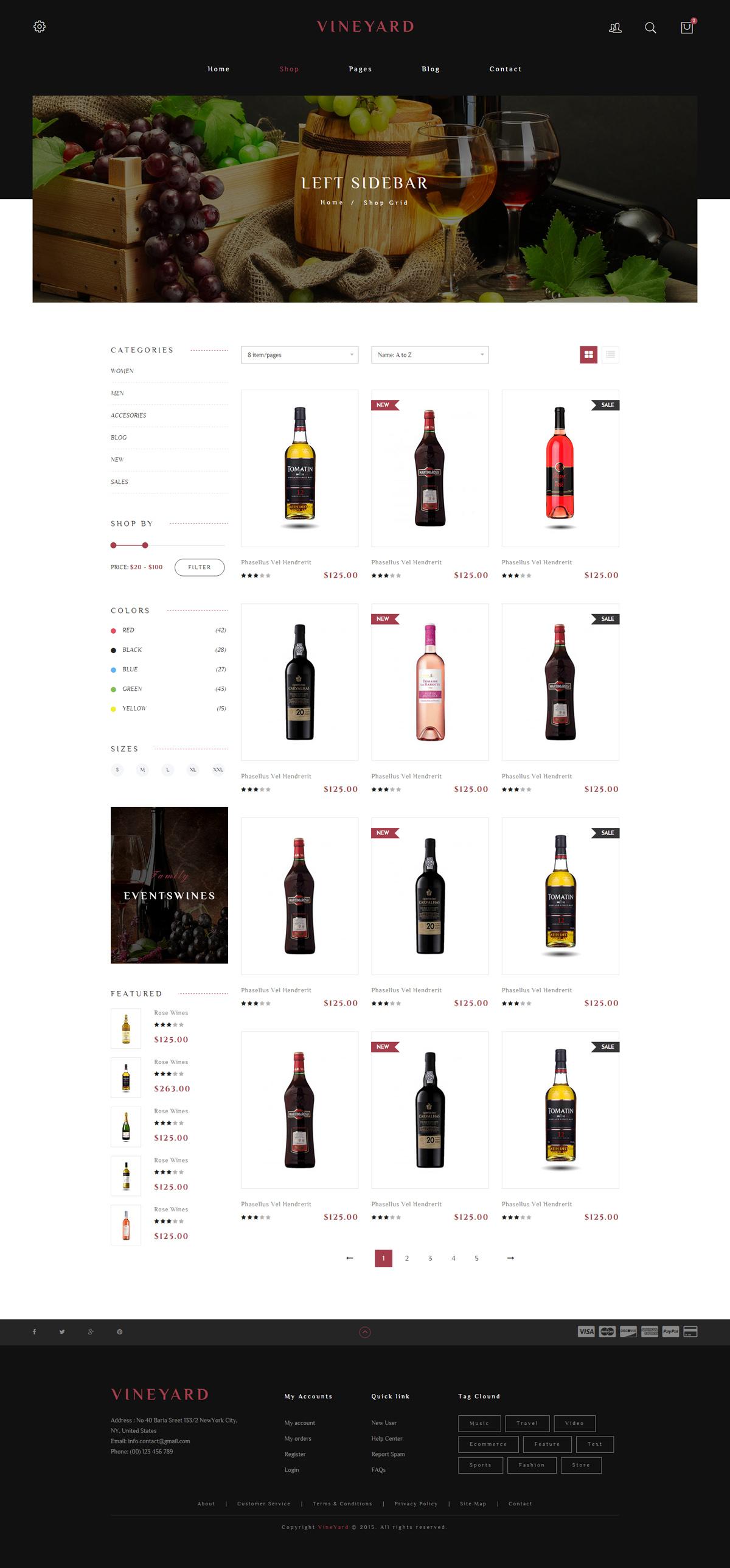 红酒商城源码下载_响应葡萄酒电商html5模板_大气漂亮红酒商城框架html源码 - vineyard