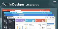 Bootstrap电商系统管理模板_换肤HTML5后台系统UI框架 - AdminDesigns1.5