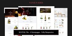 响应葡萄酒电商HTML5模板_大气漂亮红酒商城框架HTML源码 - Vineyard