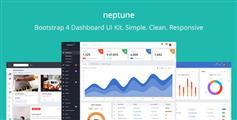 Web应用程序开发管理系统UI工具包Bootstrap4后台模板HTML5 - Neptune