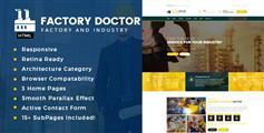 Bootstrap框架开发的工业制造业大型企业门户网站HTML模板框架 - Factory Doctor