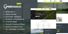 绿色清新HTML5环保宣传网站模板Bootstrap环境保护Css3动画模板 - Green Magic