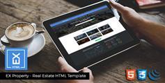 响应式房地产HTML模板地图展示Bootstrap房产网站HTML5模板 - EX Properties