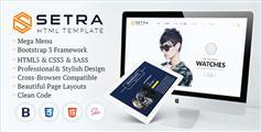 Setra - 时尚手表电商HTML5模板在线商城_响应Bootstrap电商模板框架