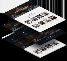 Fourteen - 大气单页HTML5企业官网模板视差效果兼容手机端企业HTML